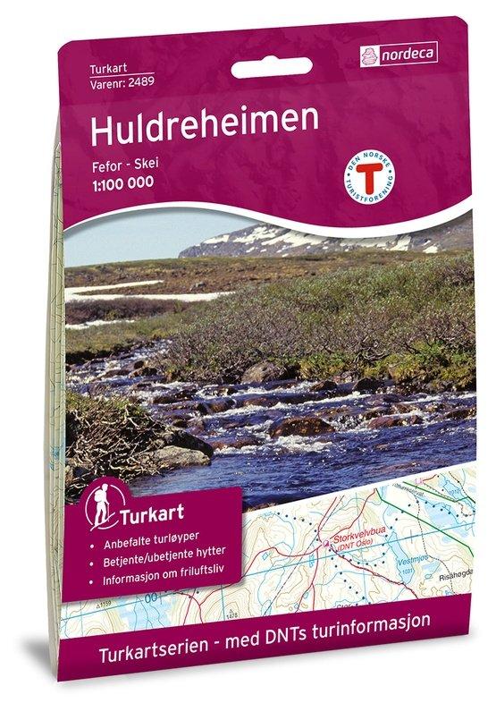 UG-2489  Huldreheimen 1:100.000 7046660024898  Nordeca / Ugland Turkart Norge 1:100.000  Wandelkaarten Noorwegen boven de Sognefjord