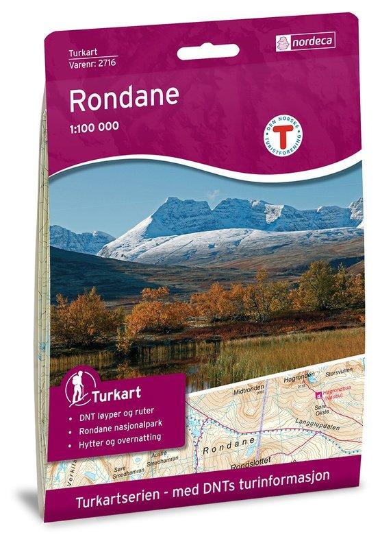 UG-2716  Rondane kaart 1:100.000 7046660027165  Nordeca / Ugland Turkart Norge  Wandelkaarten Noorwegen boven de Sognefjord