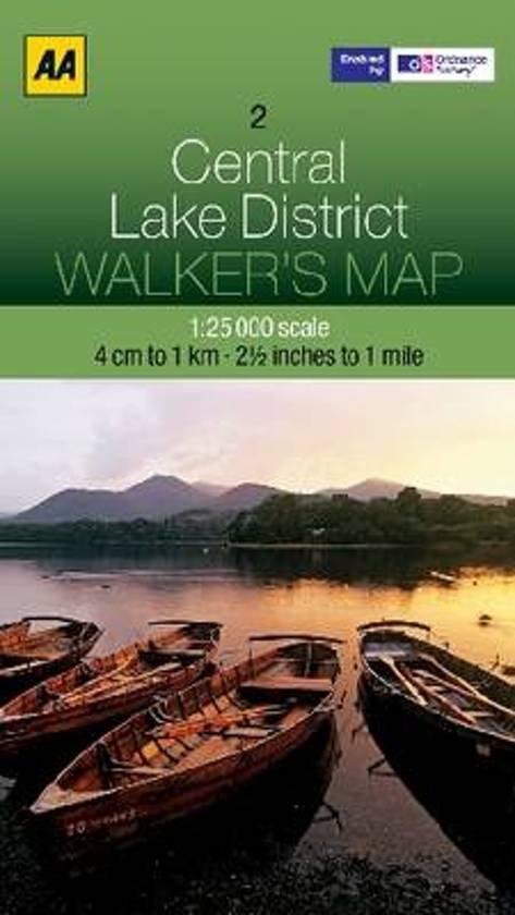 AOS-02  AA Walker's Map Central Lake District 9780749573133  AA AA / Ordnance Survey  Wandelkaarten Noord-Engeland