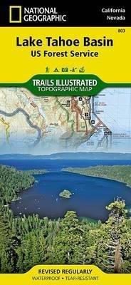 TI-803 Lake Tahoe Basin map 1:63.360 9781566953344  National Geographic / Trails Illustrated Nat.Park/Recr.Series  Wandelkaarten California, Nevada