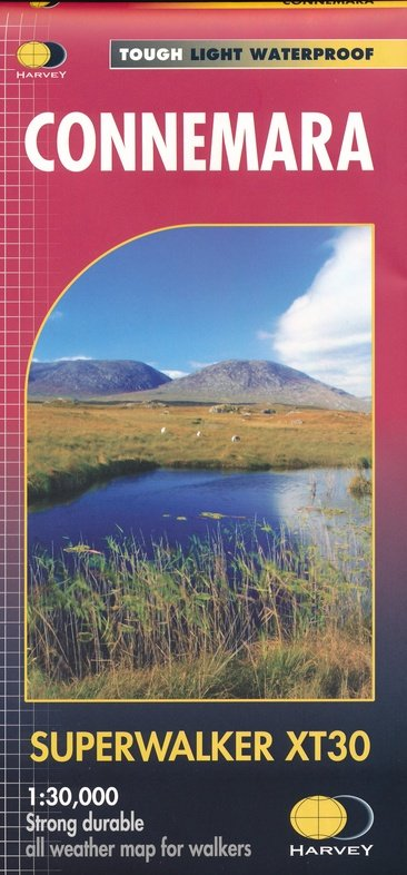 Connemara Superwalker | wandelkaart 1:30.000 (MH 082) 9781851376216  Harvey Maps   Wandelkaarten Ierland West- en Zuid