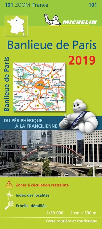 101 Paris Banlieu 1:50.000 2019 9782067236288  Michelin Zoom  Landkaarten en wegenkaarten Parijs, Île-de-France