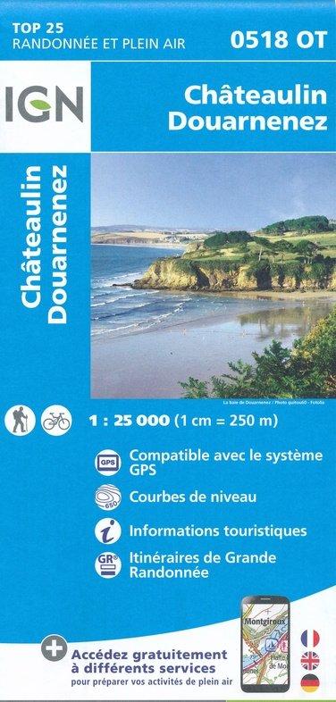 0518OT  omgeving Ménez Hom, Châteaulin | wandelkaart 1:25.000 9782758541004  IGN TOP 25  Wandelkaarten Bretagne