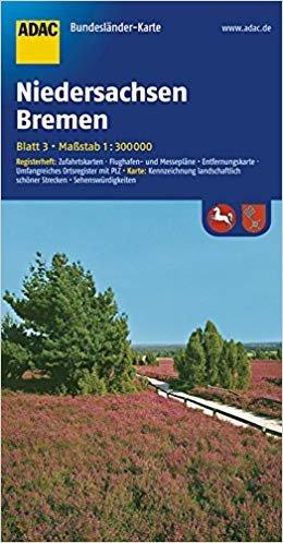 Niedersachsen, Bremen 1:300.000 9783826423154  ADAC Bundesländerkarten  Landkaarten en wegenkaarten Noordwest-Duitsland