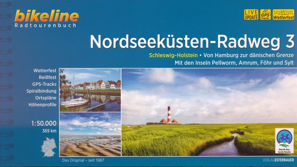 Bikeline Nordseeküsten-Radweg 3 | fietsgids 9783850007740  Esterbauer Bikeline  Fietsgidsen, Meerdaagse fietsvakanties Schleswig-Holstein, Hamburg, Niedersachsen