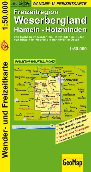 Weserbergland 1:50.000 9783959650083  GeoMap   Fietskaarten, Wandelkaarten Hannover, Weserbergland