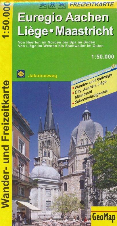 Euregio Aachen-Liege-Maastricht 1:50.000 9783959650090  GeoMap Wandelkaarten Eifel  Wandelkaarten Eifel, Moezel, Rheinland-Pfalz, Wallonië (Ardennen)