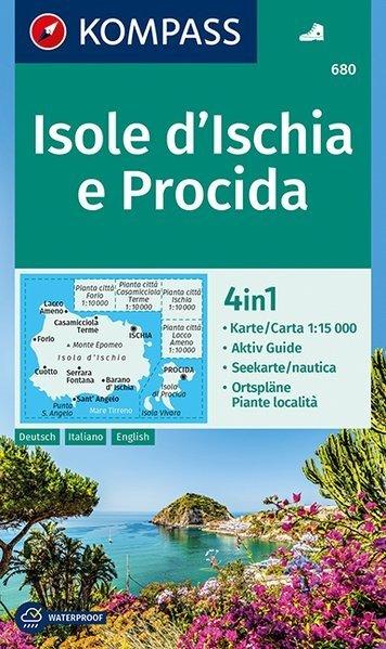 KP-680 Isola d'Ischia e Procida 1:15.000   Kompass wandelkaart 9783990443781  Kompass Wandelkaarten Kompass Italië  Wandelkaarten Napels, Amalfi, Campanië