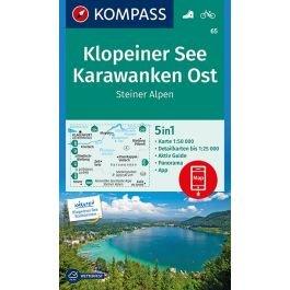 KP-65 Klopeiner See - Karawanken   Kompass wandelkaart 9783990443835  Kompass Wandelkaarten Kompass Oostenrijk  Wandelkaarten Salzburg, Karinthië, Tauern, Stiermarken