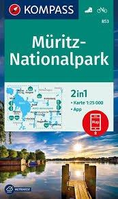 KP-853  Müritz-Nationalpark | Kompass 9783990446935  Kompass Wandelkaarten Kompass Duitsland  Wandelkaarten Mecklenburgische Seenplatte