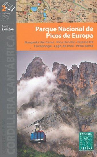 Picos de Europa wandelkaart 9788480907804  Editorial Alpina Wandelkaarten Spanje  Wandelkaarten Noordwest-Spanje, Compostela, Picos de Europa
