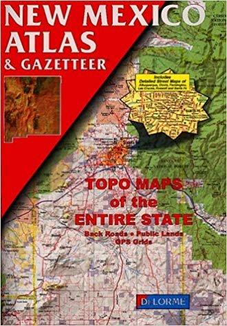 New Mexico Atlas & Gazetteer 9780899332291  Delorme Delorme Atlassen  Wegenatlassen Colorado, Arizona, Utah, New Mexico