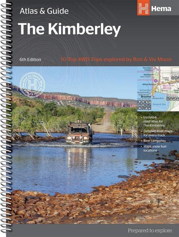 Kimberley   atlas & outdoor guide 9781876413644  Hema Maps   Wegenatlassen Australië
