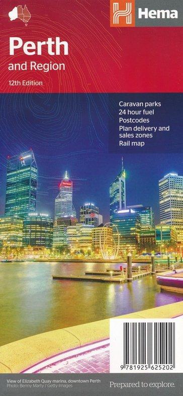 Perth and Region 9781925625202  Hema Maps   Stadsplattegronden Australië