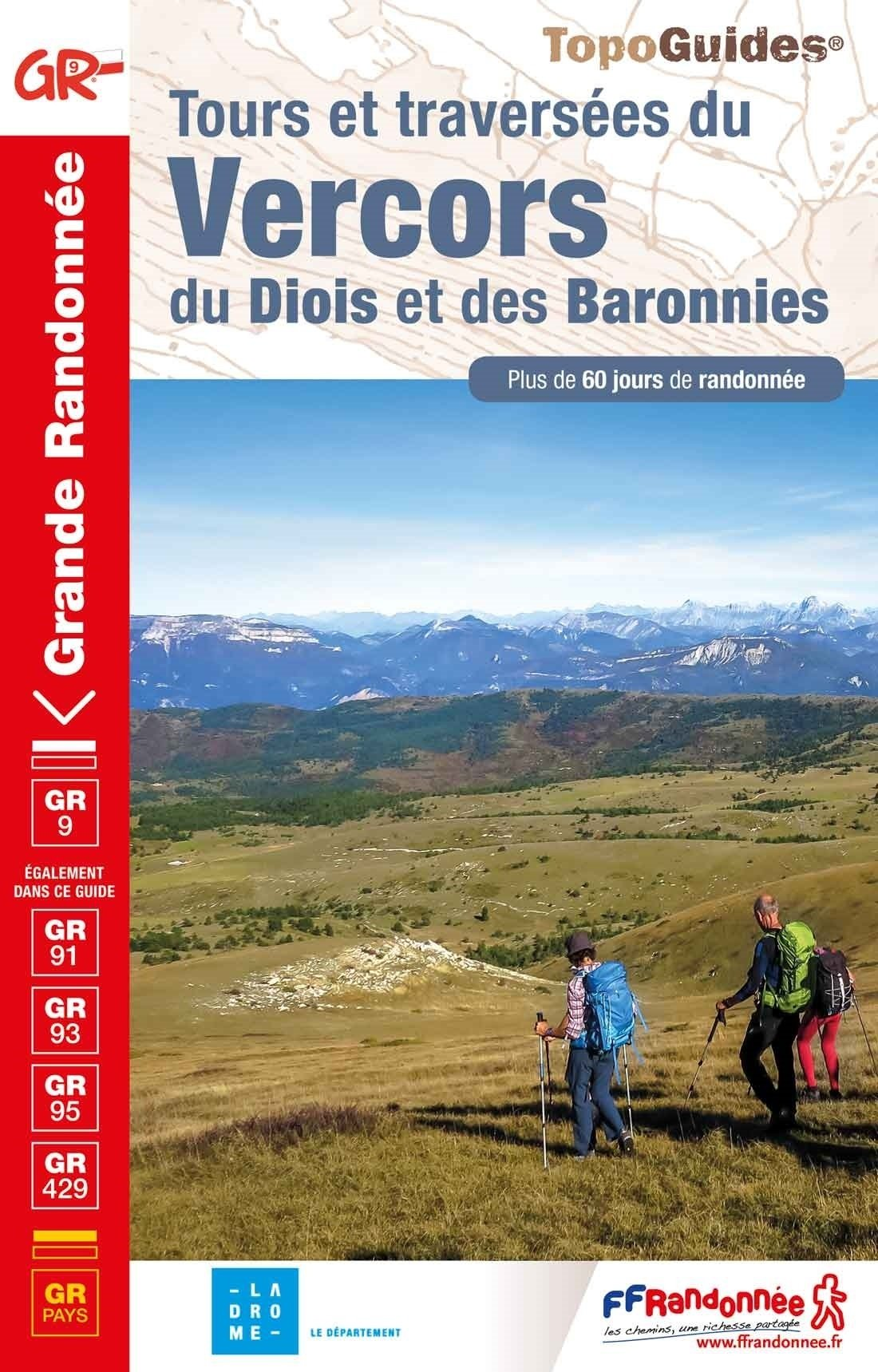 TG904  Vercors, Diois, Baronnies; GR9 9782751403910  FFRP Topoguides  Meerdaagse wandelroutes, Wandelgidsen Ardèche, Drôme, Franse Alpen: noord