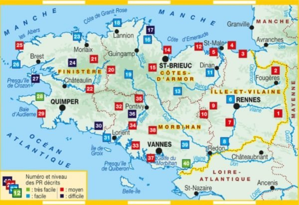 RE-10  La Bretagne | wandelgids 9782751410079  FFRP Topoguides  Wandelgidsen Bretagne