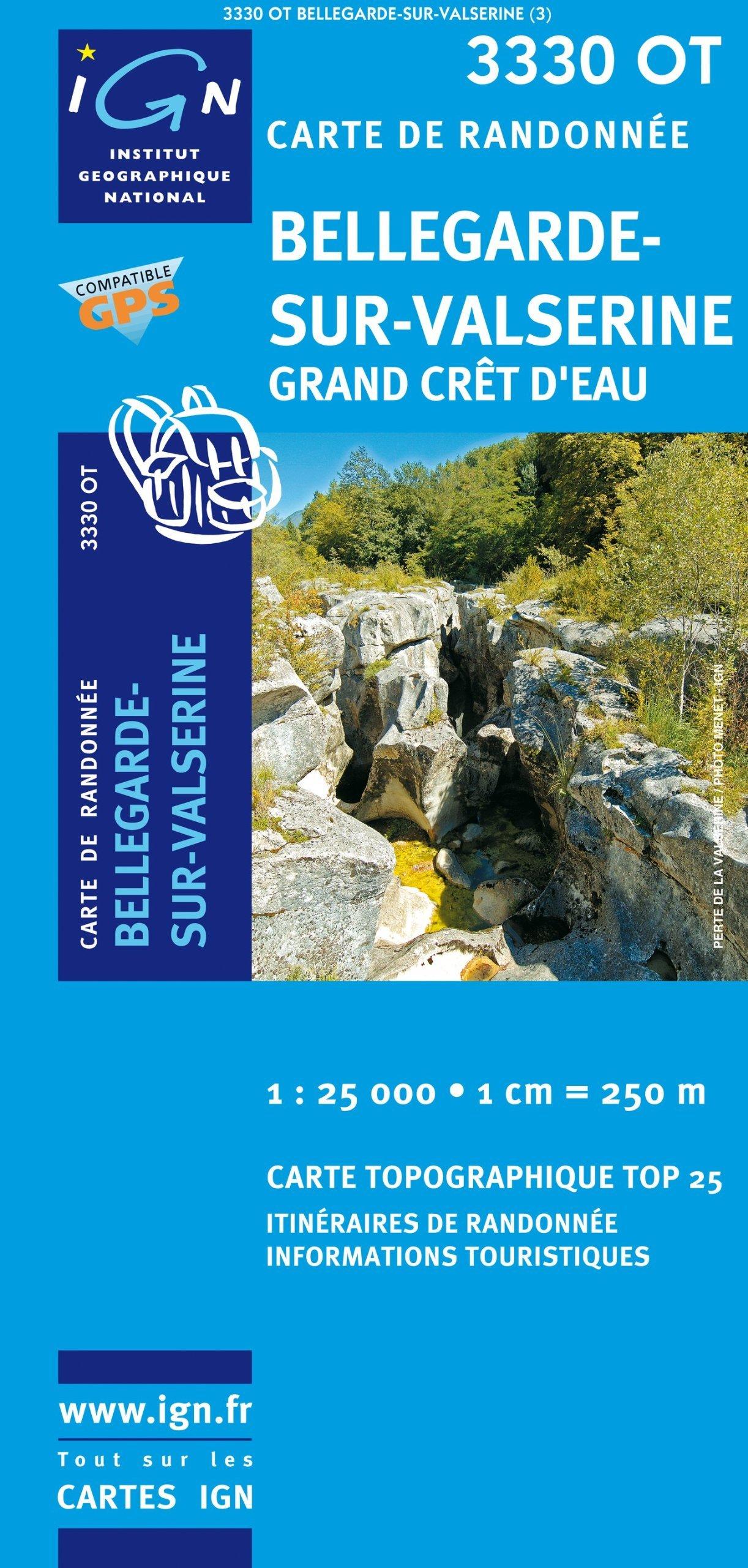 3330OT   Bellegarde-sur-Valserine | wandelkaart 1:25.000 * 9782758505150  IGN TOP 25  Wandelkaarten Jura, Franche-Comté