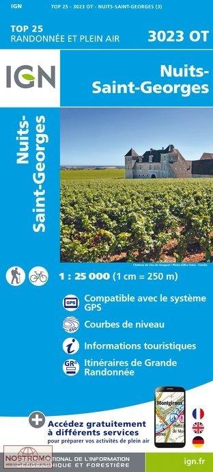 3023OT  Nuits-St-Georges | wandelkaart 1:25.000 9782758536154  IGN TOP 25 (1:25.000)  Wandelkaarten, Wijnreisgidsen Bourgogne, Morvan, Côte-d'Or