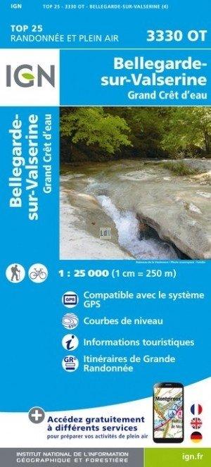 3330OT   Bellegarde-sur-Valserine | wandelkaart 1:25.000 9782758539858  IGN TOP 25  Wandelkaarten Jura, Franche-Comté