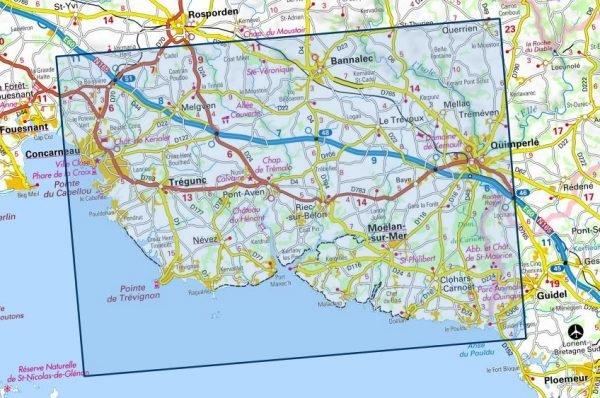 0620ET   Quimperlé, Pont-Aven, Tregunc   wandelkaart 1:25.000 9782758542568  IGN TOP 25  Wandelkaarten Bretagne