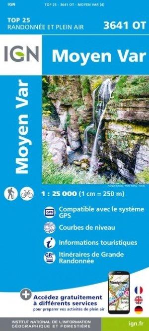 3641OT   Moyen Var | wandelkaart 1:25.000 9782758542865  IGN TOP 25  Wandelkaarten Var, Côte d'Azur, Mercantour