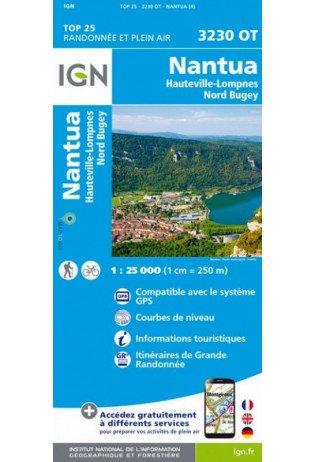 3230OT Poncin, Brénod, Nantua | wandelkaart 1:25.000 9782758543244  IGN TOP 25  Wandelkaarten Lyon, Ain, Savoie, Mont Blanc, Vanoise, Chartreuse