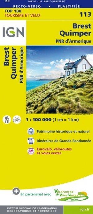 SV-113  Brest/Quimper 9782758543626  IGN Série Verte 1:100.000  Fietskaarten, Landkaarten en wegenkaarten Bretagne