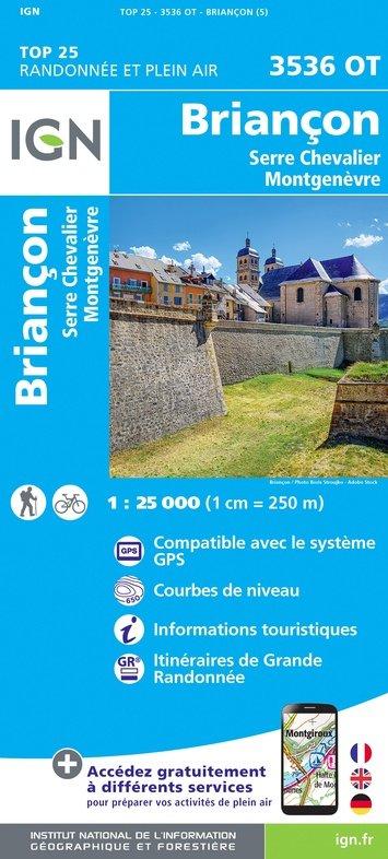 3536OT  Briançon, Montgenèvre | wandelkaart 1:25.000 9782758546733  IGN TOP 25  Wandelkaarten Écrins, Queyras