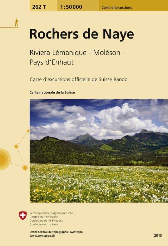 262T  Rochers de Naye [2013] 9783302302621  Bundesamt / Swisstopo SAW 1:50.000  Wandelkaarten Berner Oberland, Basel, Jura, Genève