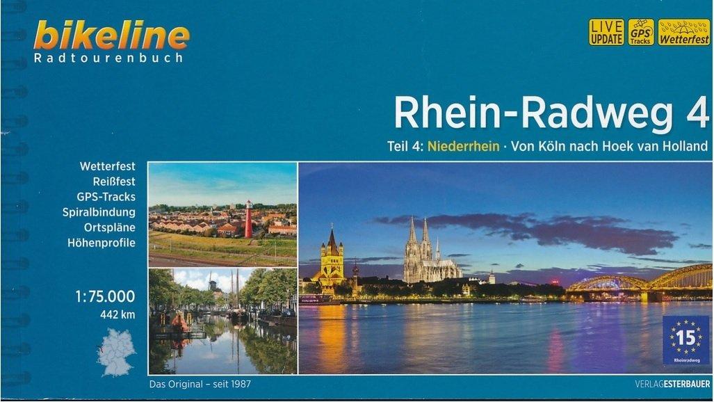 Bikeline Rhein-Radweg 4 | fietsgids 9783850006712  Esterbauer Bikeline  Fietsgidsen, Meerdaagse fietsvakanties Nederland, West-Duitsland