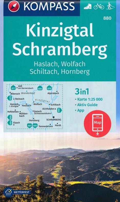 KP-880  Kinzigtal - Schramberg | Kompass 9783990445990  Kompass Wandelkaarten   Wandelkaarten Baden-Württemberg, Zwarte Woud