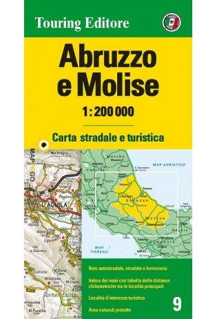 TCI-09  Abruzzo / Molise 1:200.000 9788836569014  TCI Italië Wegenkaarten  Landkaarten en wegenkaarten Abruzzen en Molise
