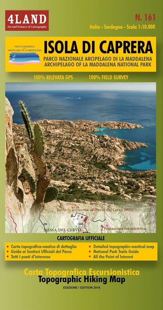 IM-161  Isola di Caprera | wandelkaart 1:25.000 9788889823842  Idea Montagna 4LAND  Wandelkaarten Sardinië