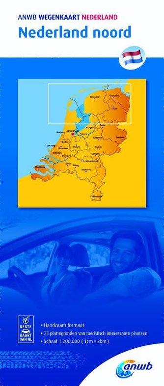 Noord Nederland 1:200.000 9789018042004  ANWB Wegenkaarten  Landkaarten en wegenkaarten Noord Nederland