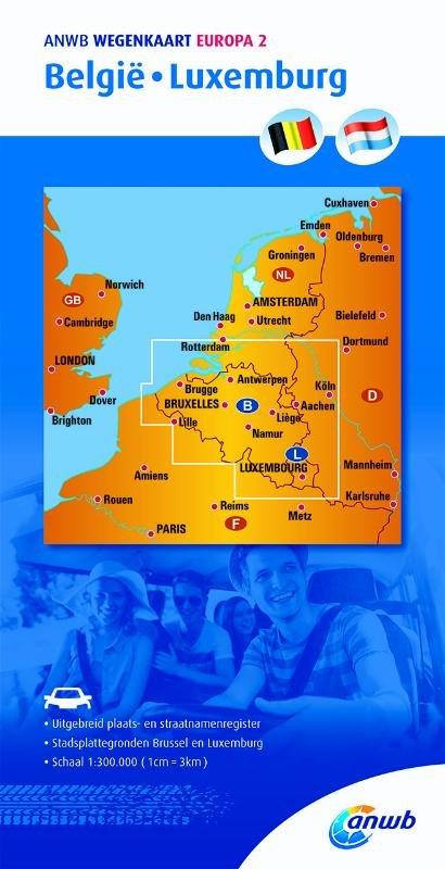 Belgie/Luxemburg 1:300.000 9789018042479  ANWB Wegenkaarten  Landkaarten en wegenkaarten België & Luxemburg