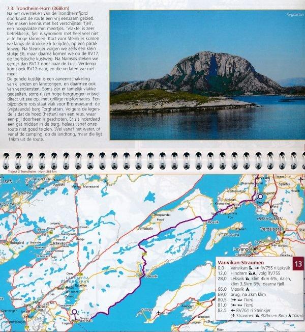 Noorwegen, langs de kust naar de Noordkaap 9789064558627 P. Zandveld, i.s.m. Europafietsers Pirola Pirola fietsgidsen  Fietsgidsen, Meerdaagse fietsvakanties Noorwegen