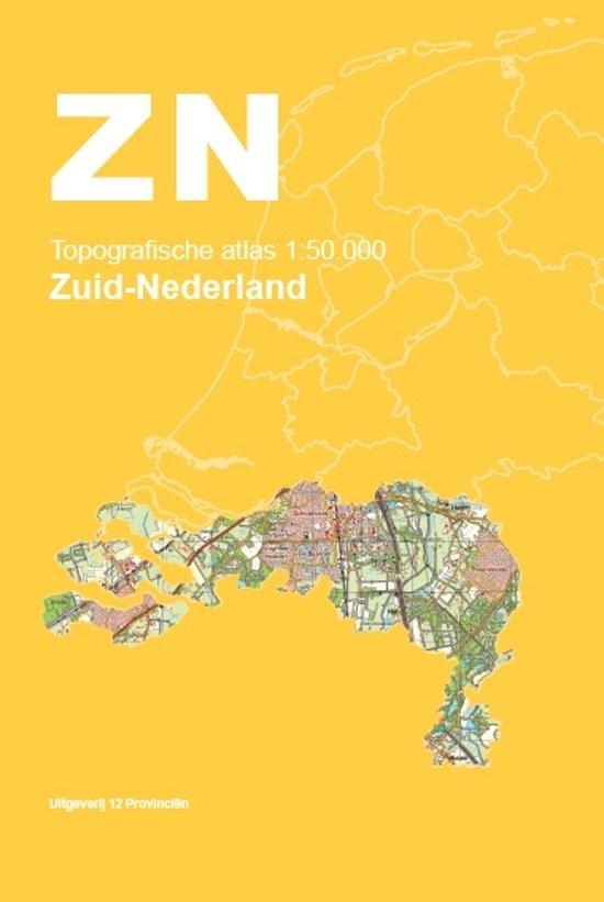 Topografische Atlas 1:50.000 Zuid-Nederland 9789492534071  12 Provincien Ned. 1:50.000  Wandelkaarten, Wegenatlassen Zuid Nederland