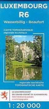 Lux. R06  Wasserbillig - Beaufort 1:20.000 R6 wandelkaart LUXR06  Le Gouvernement du Grand-Duché Wandelkaarten Luxemburg  Wandelkaarten Luxemburg