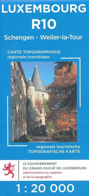 Lux. R10  Remich 1:20.000 wandelkaart LUXR10  Le Gouvernement du Grand-Duché Wandelkaarten Luxemburg  Wandelkaarten Luxemburg
