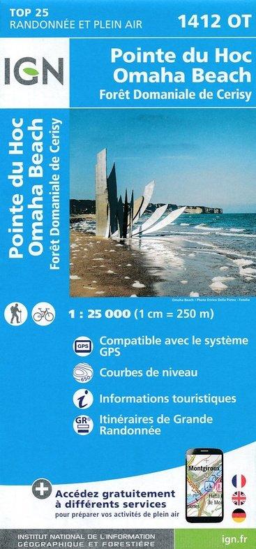 1412OT  Trévières, Grandcamp-Maisy | wandelkaart 1:25.000 9782758538776  IGN TOP 25  Wandelkaarten Normandië