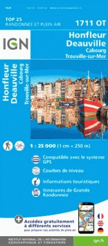1711OT  Cabourg, Honfleur | wandelkaart 1:25.000 9782758539452  IGN TOP 25  Wandelkaarten Normandië