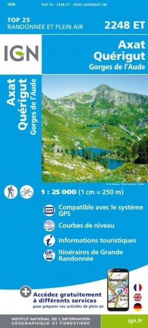 2248ET   Quérigut,  Axat | wandelkaart 1:25.000 9782758542766  IGN TOP 25  Wandelkaarten Franse Pyreneeën, Toulouse, Gers, Garonne