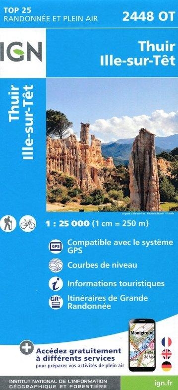 2448OT  Thuir, Ille-sur-Tet   wandelkaart 1:25.000 9782758542797  IGN TOP 25  Wandelkaarten Franse Pyreneeën, Toulouse, Gers, Garonne