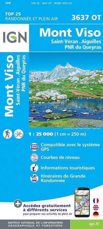 3637OT  Mont Viso (Monviso), St-Véran, Aiguilles | wandelkaart 1:25.000 9782758543336  IGN TOP 25  Wandelkaarten Écrins, Queyras