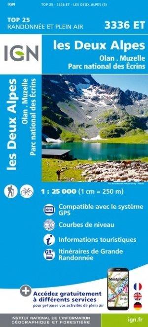 3336ET Les Deux Alpes, Olan, Muzelle | wandelkaart 1:25.000 9782758545552  IGN TOP 25  Wandelkaarten Lyon, Ain, Savoie, Mont Blanc, Vanoise, Chartreuse