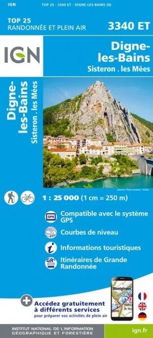 3340ET   Volonne, Digne-les-Bains | wandelkaart 1:25.000 9782758545583  IGN TOP 25  Wandelkaarten Franse Alpen: zuid