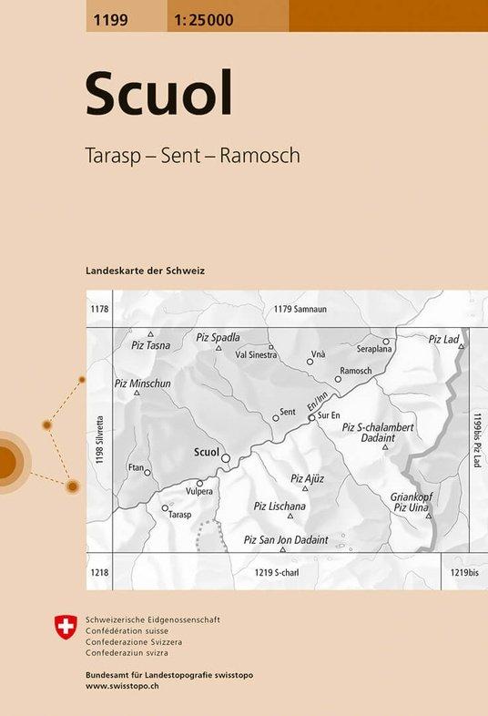 CH-1199 Scuol [2016] topografische wandelkaart 9783302011998  Bundesamt / Swisstopo LKS 1:25.000  Wandelkaarten Graubünden, Tessin