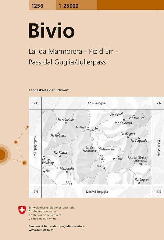 CH-1256  Bivio [2017] topografische wandelkaart 9783302012568  Bundesamt / Swisstopo LKS 1:25.000  Wandelkaarten Graubünden, Tessin