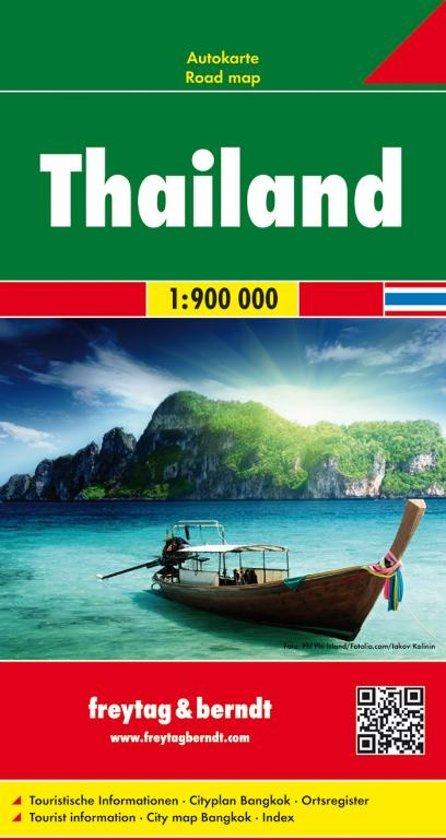 Thailand   autokaart, wegenkaart 1:900.000 9783707913774  Freytag & Berndt   Landkaarten en wegenkaarten Thailand