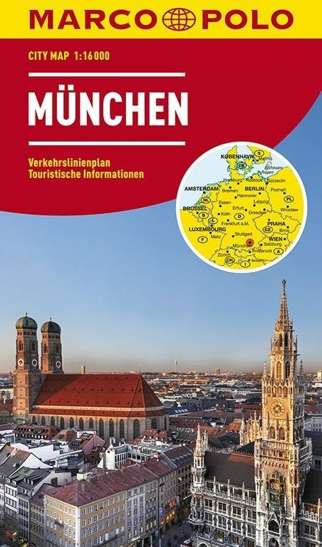 Marco Polo Stadsplattegrond München 1:16.000 / 10.000 9783829730952  Marco Polo   Stadsplattegronden Beierse Alpen en München
